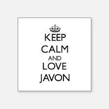 Keep Calm and Love Javon Sticker