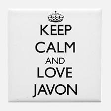 Keep Calm and Love Javon Tile Coaster