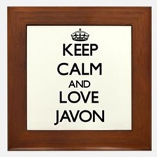 Keep Calm and Love Javon Framed Tile