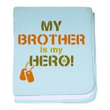 Dog Tag Hero Brother baby blanket