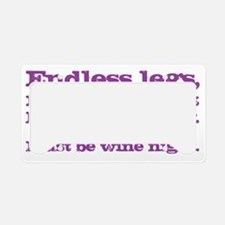 Wine night License Plate Holder