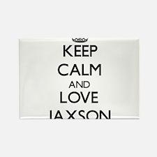 Keep Calm and Love Jaxson Magnets