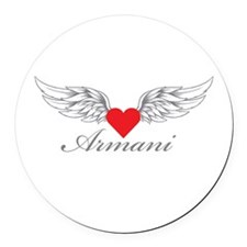 Angel Wings Armani Round Car Magnet