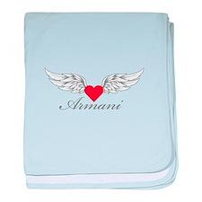 Angel Wings Armani baby blanket