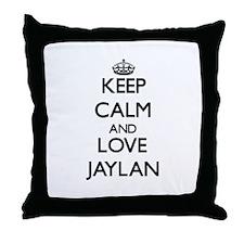 Keep Calm and Love Jaylan Throw Pillow