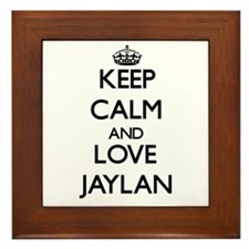 Keep Calm and Love Jaylan Framed Tile