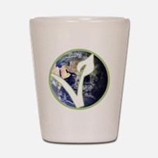 World is Vegan Logo Shot Glass