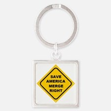AAREProad_sign_diagonal_blank Square Keychain