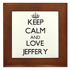Keep Calm and Love Jeffery Framed Tile