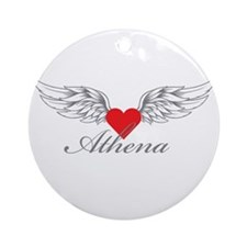 Angel Wings Athena Ornament (Round)