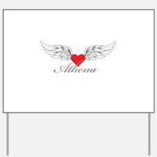 Angel Wings Athena Yard Sign