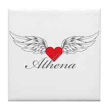 Angel Wings Athena Tile Coaster