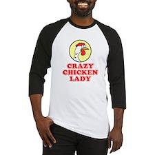 Crazy Chicken Lady Baseball Jersey