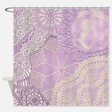 Lace panel (lilac) Shower Curtain