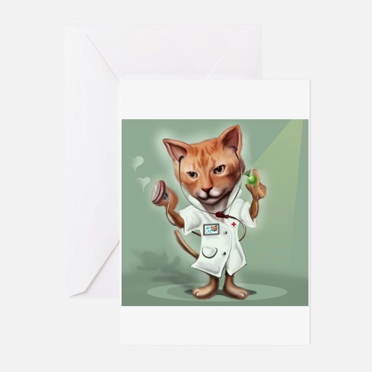 Cat- Get Well Greeting Cards (Pk Of 20)