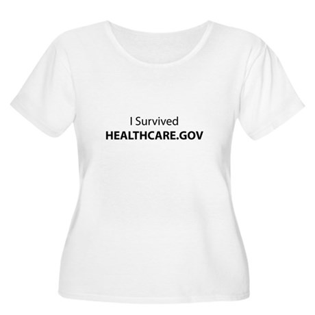 I Survived HE Women's Plus Size Scoop Neck T-Shirt
