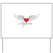 Angel Wings Ayana Yard Sign