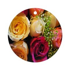 roses keepsake box Round Ornament