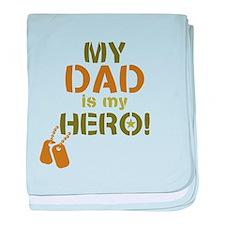 Dog Tag Hero Dad baby blanket