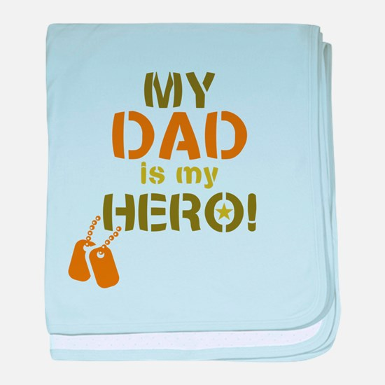 Dog Tag Hero Dad baby blanket