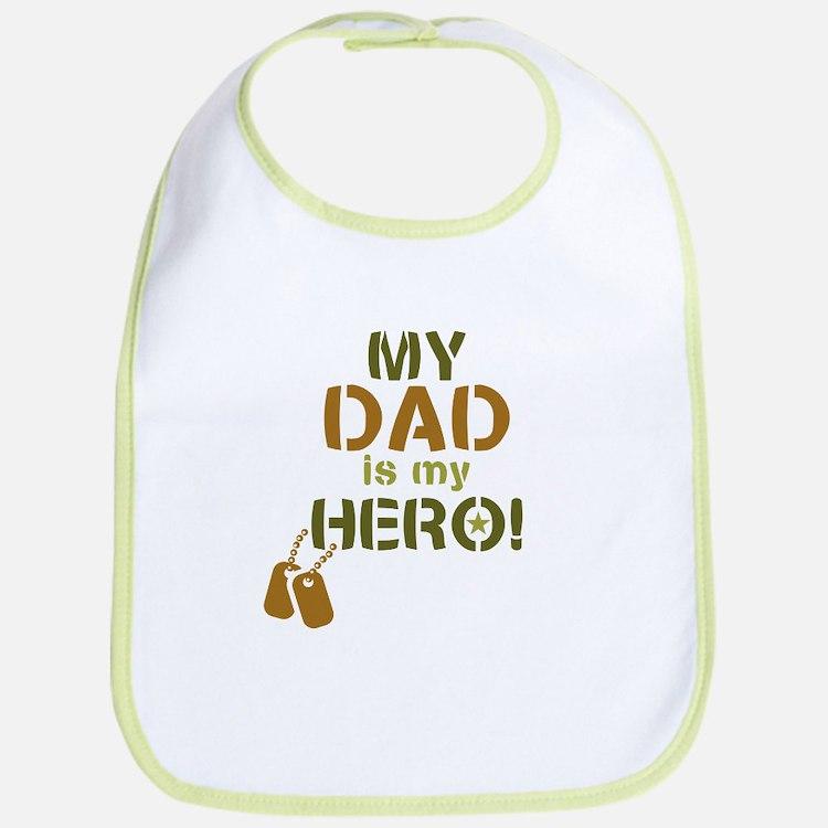Dog Tag Hero Dad Bib