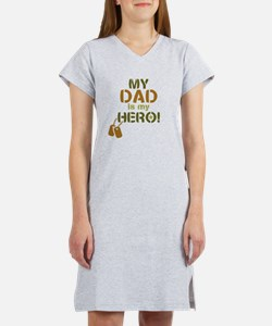 Dog Tag Hero Dad Women's Nightshirt