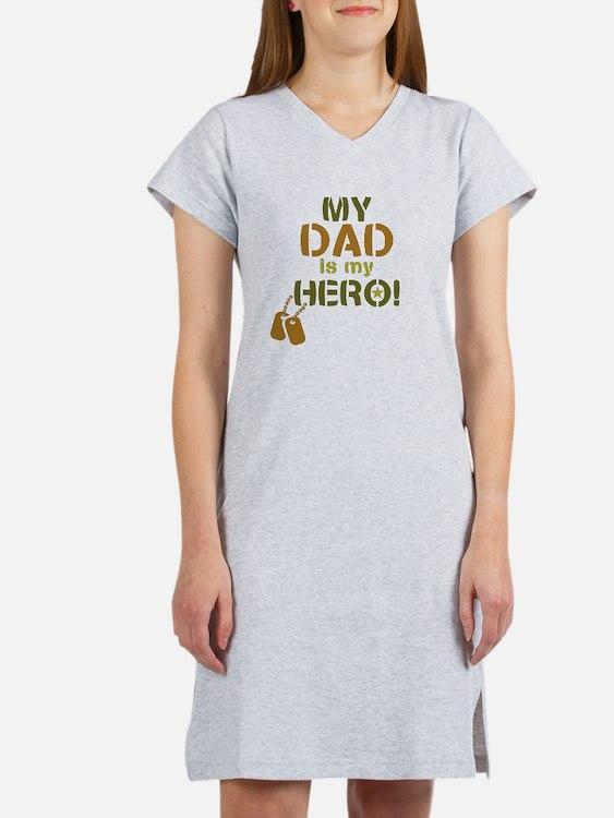 Dog Tag Hero Dad Women's Nightshirt
