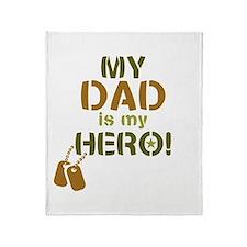 Dog Tag Hero Dad Throw Blanket
