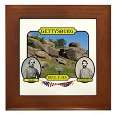 Gettysburg-Devils Den Framed Tile