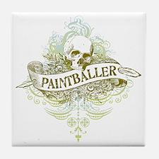 urban paintballer Tile Coaster
