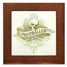 urban paintballer Framed Tile