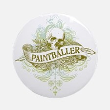 urban paintballer Round Ornament
