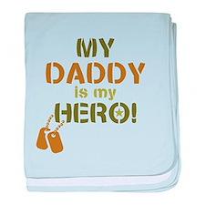Dog Tag Hero Daddy baby blanket