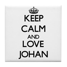Keep Calm and Love Johan Tile Coaster