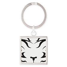 TigerLogo4 Square Keychain