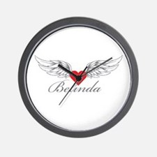 Angel Wings Belinda Wall Clock