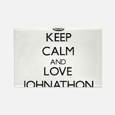Keep Calm and Love Johnathon Magnets