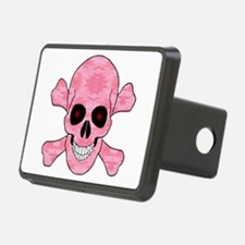 Pink Camouflage Skull And Cross Bones Hitch Cover