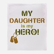 Dog Tag Hero Daughter Throw Blanket