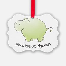 2-green_peace_love_hipponess Ornament