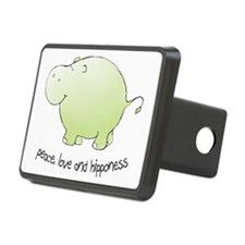 2-green_peace_love_hippone Hitch Cover