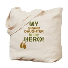 Dog Tag Hero Granddaughter Tote Bag