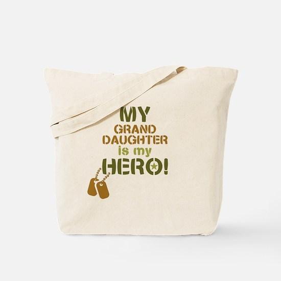 Dog Tag Hero Granddaughter Tote Bag