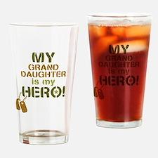 Dog Tag Hero Granddaughter Drinking Glass