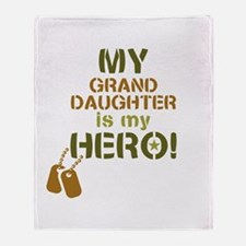 Dog Tag Hero Granddaughter Throw Blanket