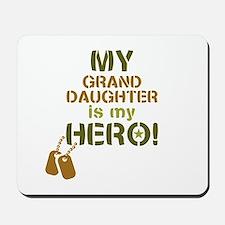 Dog Tag Hero Granddaughter Mousepad