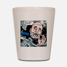 Bernanke drowning Shot Glass