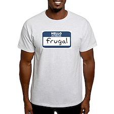 Feeling frugal Ash Grey T-Shirt