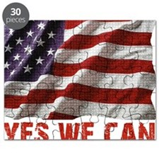 Yes We Can American Flag Puzzle