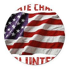 Create Change Volunteer American  Round Car Magnet